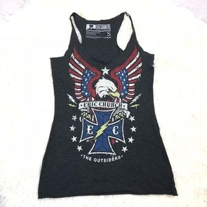 Eric Church tank top the outsiders gray